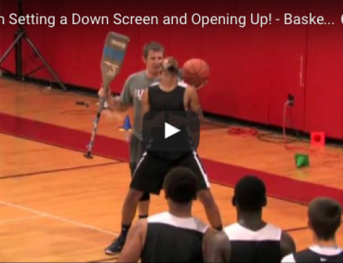Down screen post scoring drill